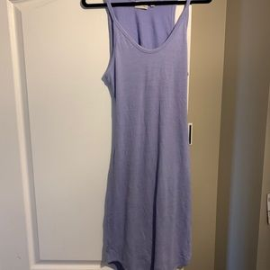 Wilfred Free light purple dress with cutout back
